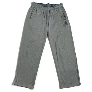 Adidas Grey Silver Long Fuzzy Sweatpants Bottoms